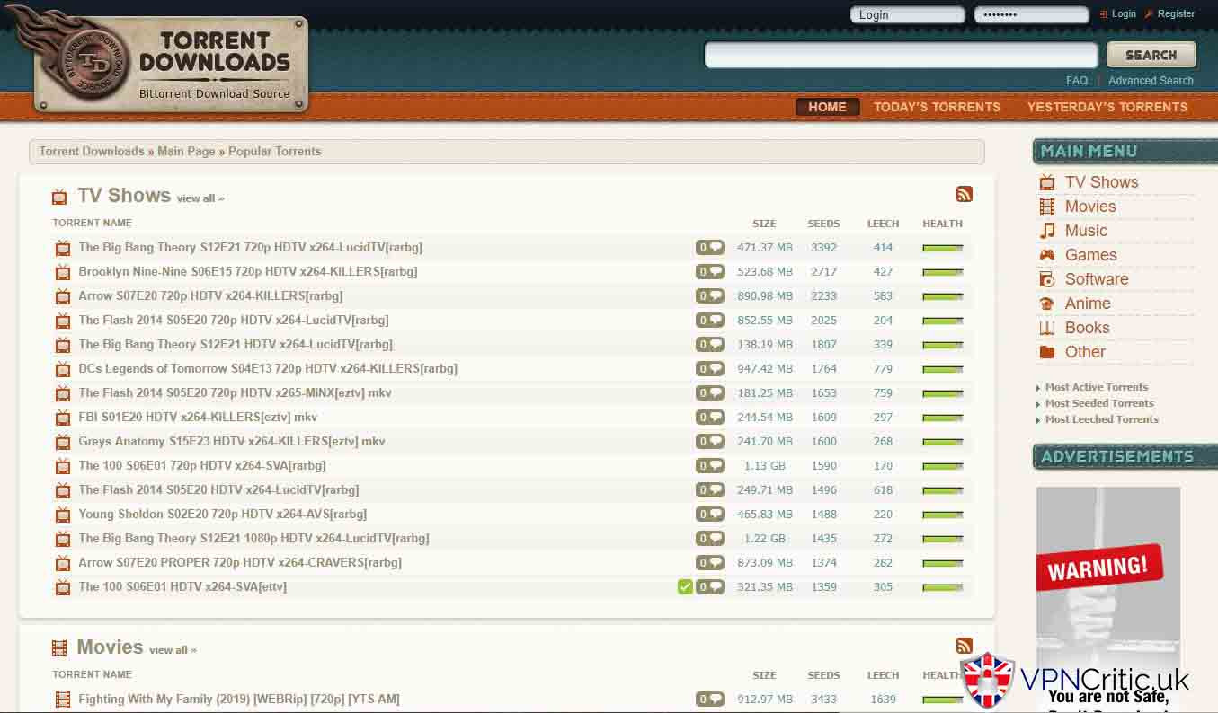 TorrentDownloads is the great site for torrenting